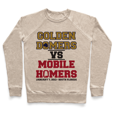 Golden Domers Vs Mobile Homers  Pullover