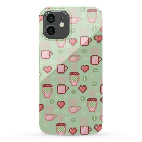 Pastel Coffee Pixel Art Pattern Phone Case