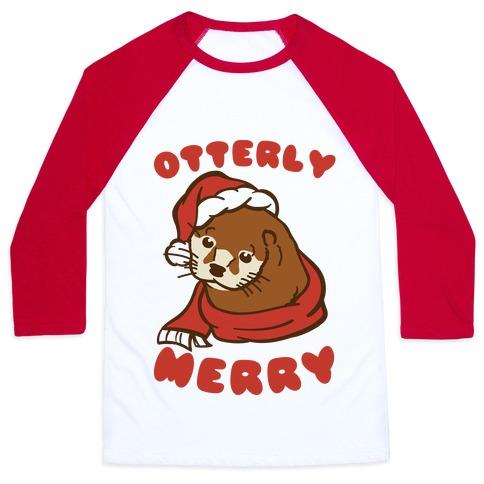 Otterly Merry Baseball Tee