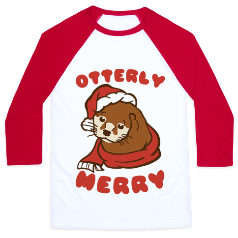 Otterly Merry Baseball Tee