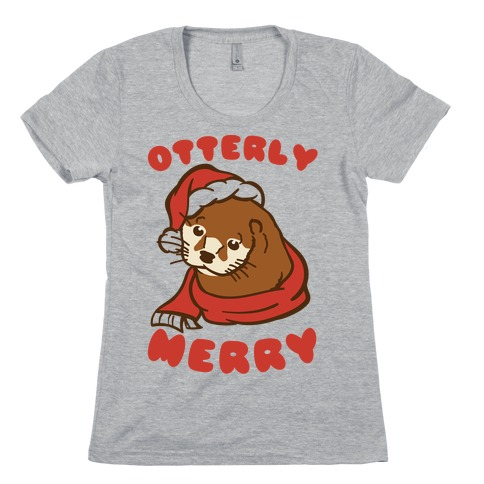 Otterly Merry Womens T-Shirt