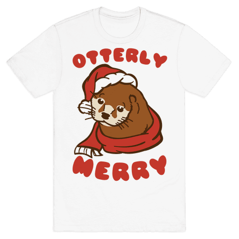 Otterly Merry Mens T-Shirt