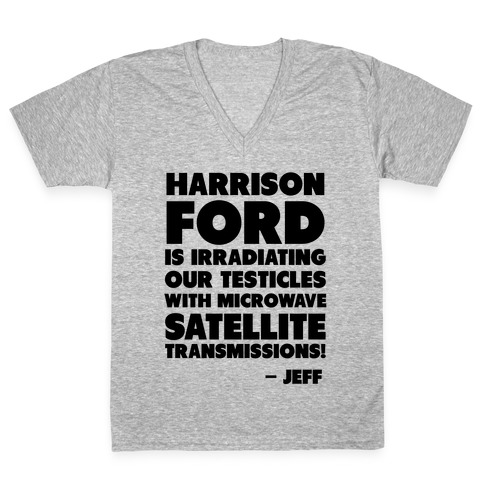 Jeff Quote V-Neck Tee Shirt
