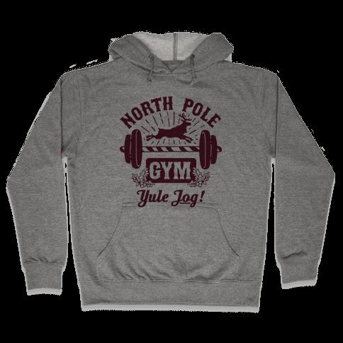 North Pole Gym Hooded Sweatshirt