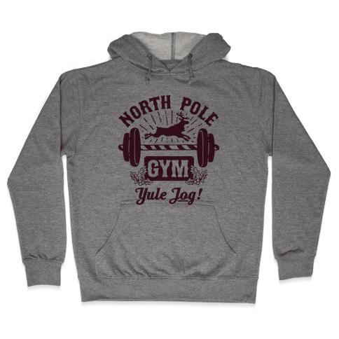 North Pole Gym Hooded Sweatshirt