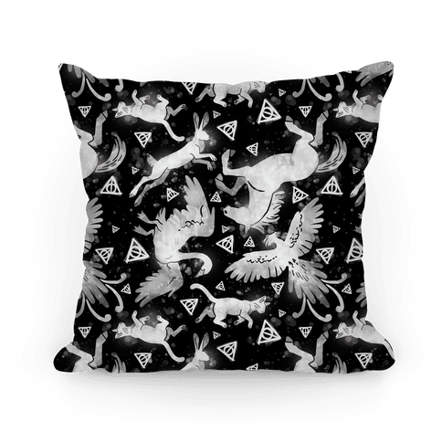 Hogwarts Patronus Pattern Pillow