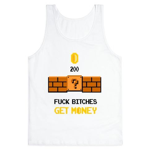 F*** Bitches, Get Money 8-bit Tank Top