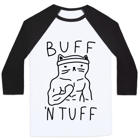 Buff 'N Tuff Cat Baseball Tee