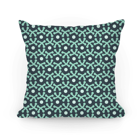 Green Crafters Stitch Pattern Pillow