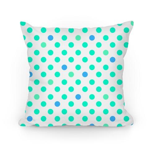 Small Polka Dot Pillow (mint) Pillow