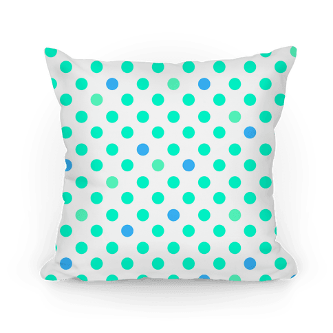 Small Polka Dot Pillow (mint) Pillow