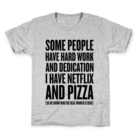 Netflix And Pizza Kids T-Shirt