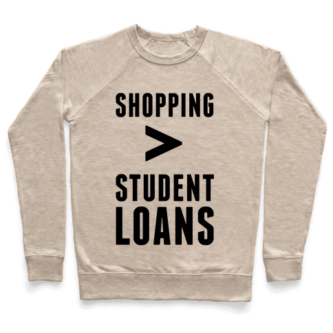 Shopping over Student Loans Pullover