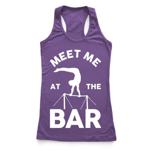 Meet Me At The Bar Gymnastics Racerback Tank Top