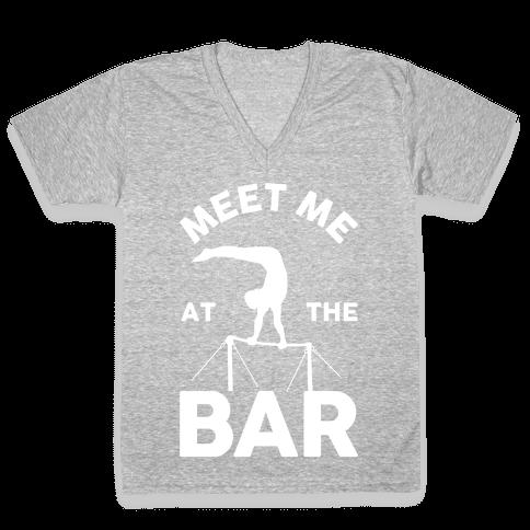 Meet Me At The Bar Gymnastics V-Neck Tee Shirt