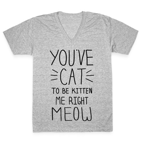 You've Cat to be Kitten Me Right Meow V-Neck Tee Shirt