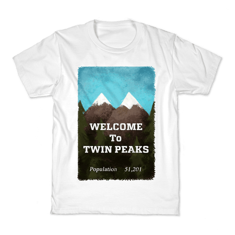Vintage Twin Peaks Travel Sign Kids T-Shirt