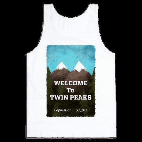 Vintage Twin Peaks Travel Sign Tank Top