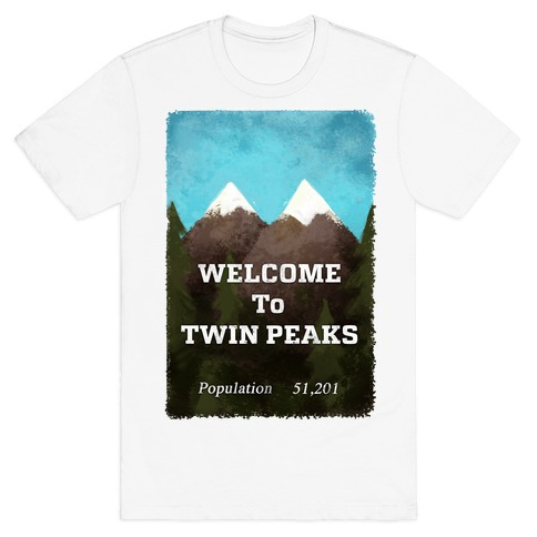 Vintage Twin Peaks Travel Sign T-Shirt
