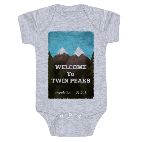 Vintage Twin Peaks Travel Sign Baby Onesy