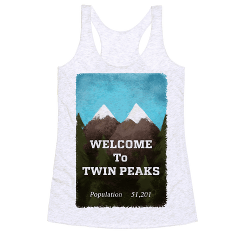 Vintage Twin Peaks Travel Sign Racerback Tank Top