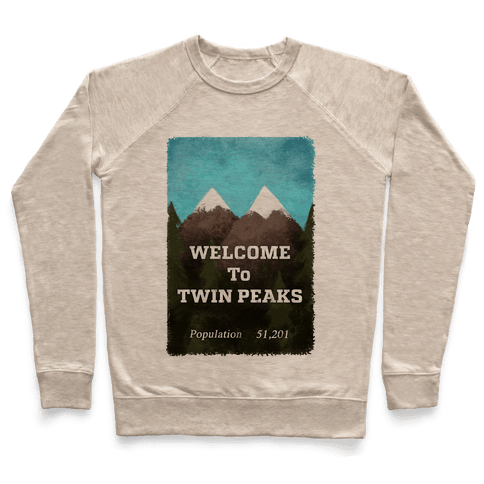 Vintage Twin Peaks Travel Sign Pullover