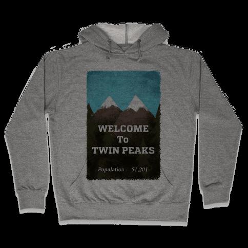 Vintage Twin Peaks Travel Sign Hooded Sweatshirt
