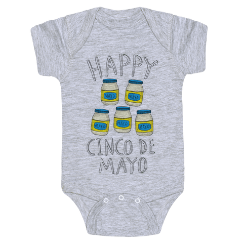 Happy Cinco De Mayo (Mayo Jars) Baby Onesy