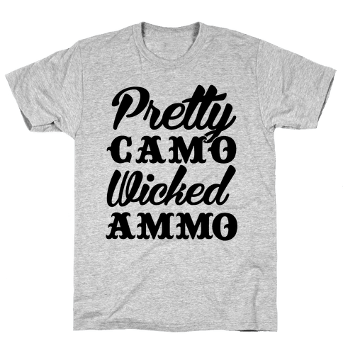Pretty Camo Wicked Ammo Mens T-Shirt
