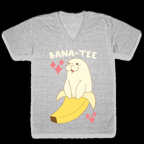 Bana-tee - Manatee V-Neck Tee Shirt