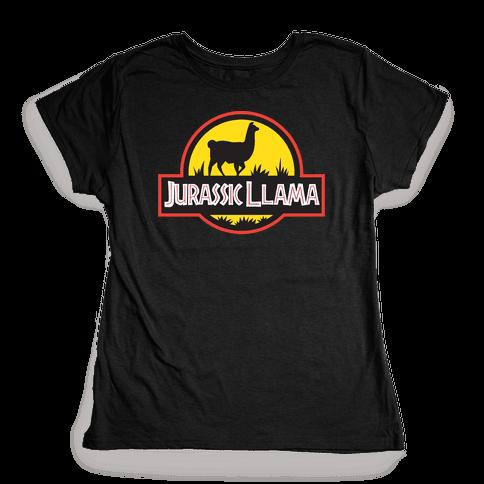 Jurassic Llama Womens T-Shirt