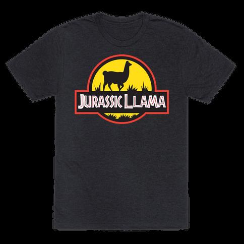 Jurassic Llama Mens T-Shirt