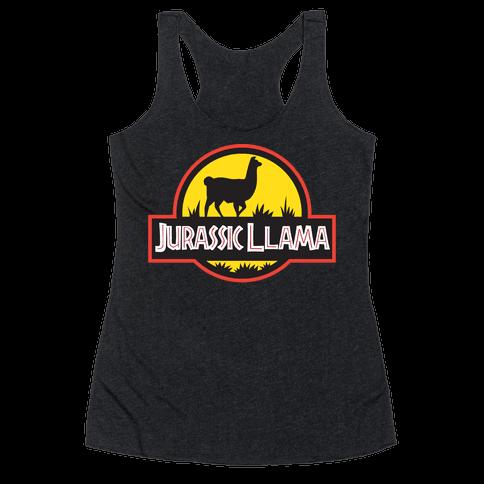 Jurassic Llama Racerback Tank Top