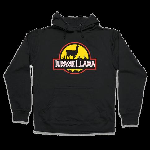 Jurassic Llama Hooded Sweatshirt