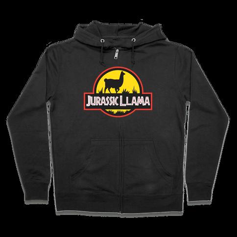 Jurassic Llama Zip Hoodie