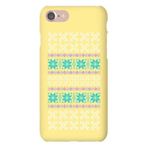 Sweater Pattern Print Yellow Phone Case