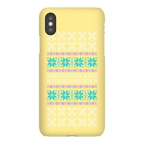 Sweater Pattern Print Yellow Phone Case