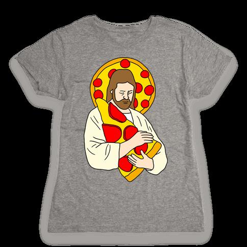 Pizza Jesus Womens T-Shirt
