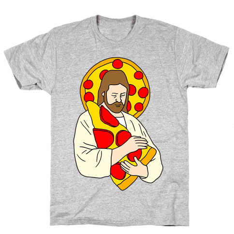 Pizza Jesus Mens T-Shirt