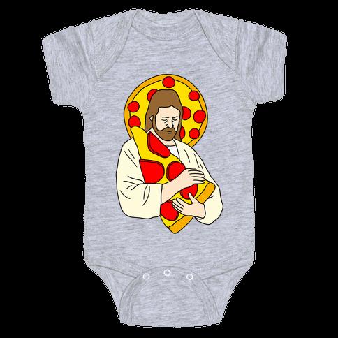 Pizza Jesus Baby Onesy