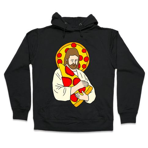 Pizza Jesus Hooded Sweatshirt