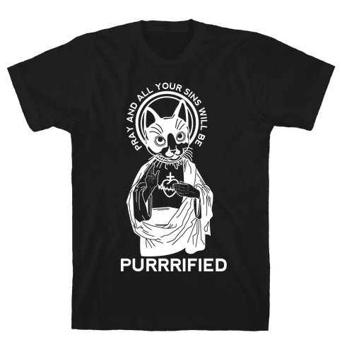 Purrrified Mens T-Shirt