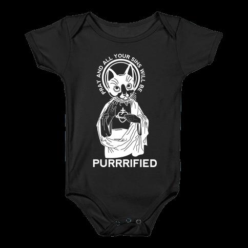 Purrrified Baby Onesy