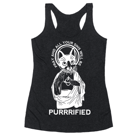 Purrrified Racerback Tank Top