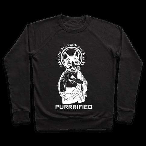 Purrrified Pullover