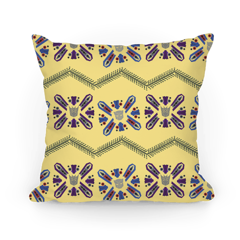 Floral Transformers Pattern Pillow