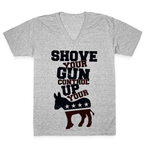 Shove Your Control V-Neck Tee Shirt