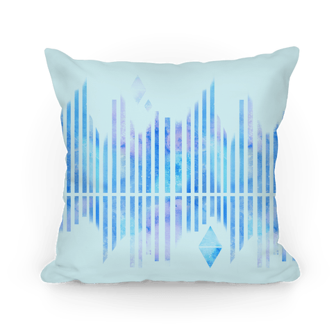 Abstract Winter Crystals Pillow