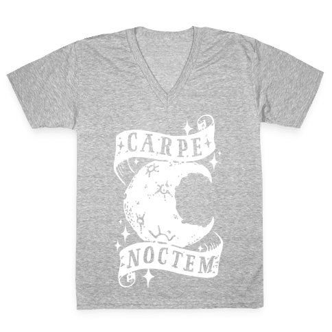 Carpe Noctem V-Neck Tee Shirt