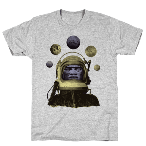 Space Olmec Mens T-Shirt